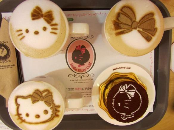 Hello Kitty Drinks and Tiramisu